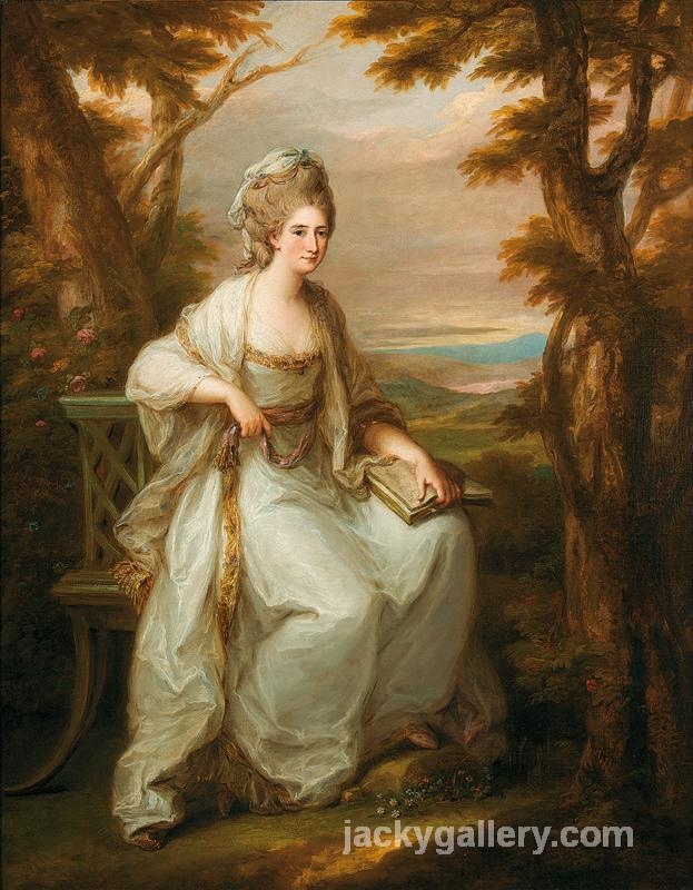 Portrait of Anne Loudon, Lady Henderson of Fordall, Angelica Kauffman painting