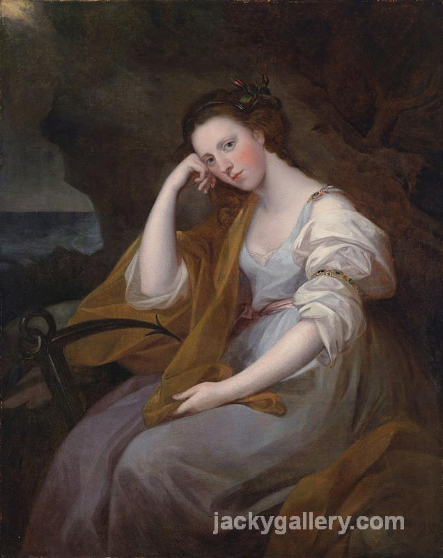 Portrait of Louisa Leveson Gower as Spes (Goddess of Hope), Angelica Kauffman painting