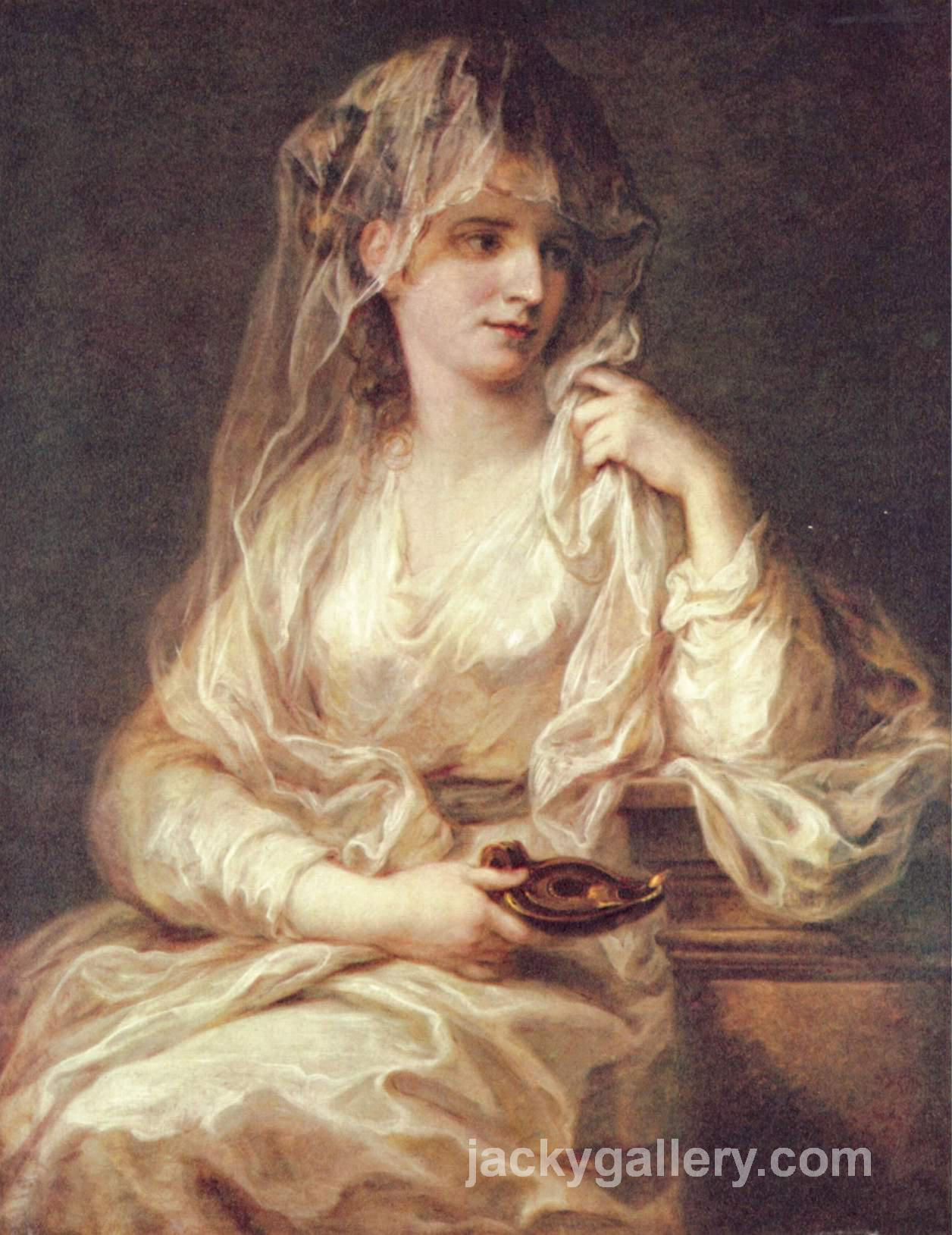 Portrait of a Woman as a Vestal Virgin, Angelica Kauffman painting