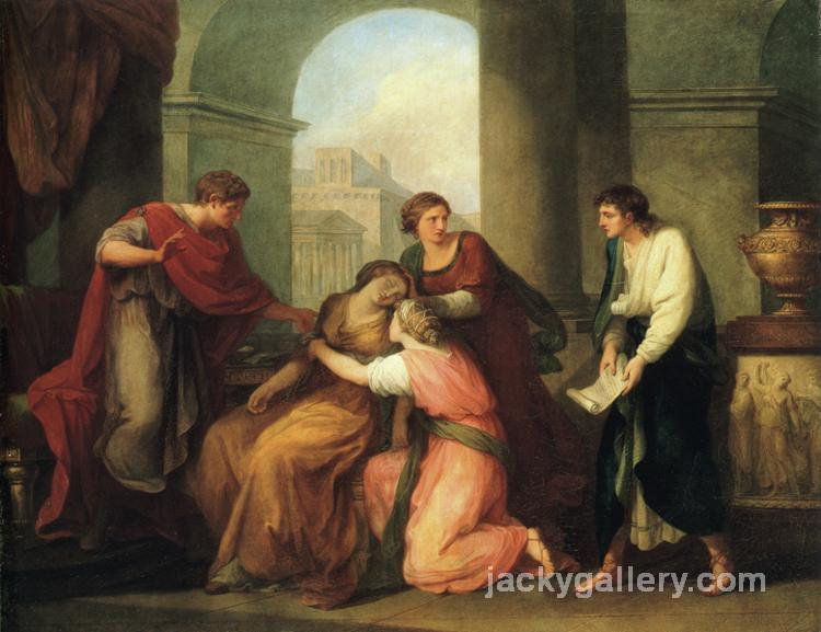 Virgil Reading the Aeneid to Augustus and Octavia, Angelica Kauffman painting