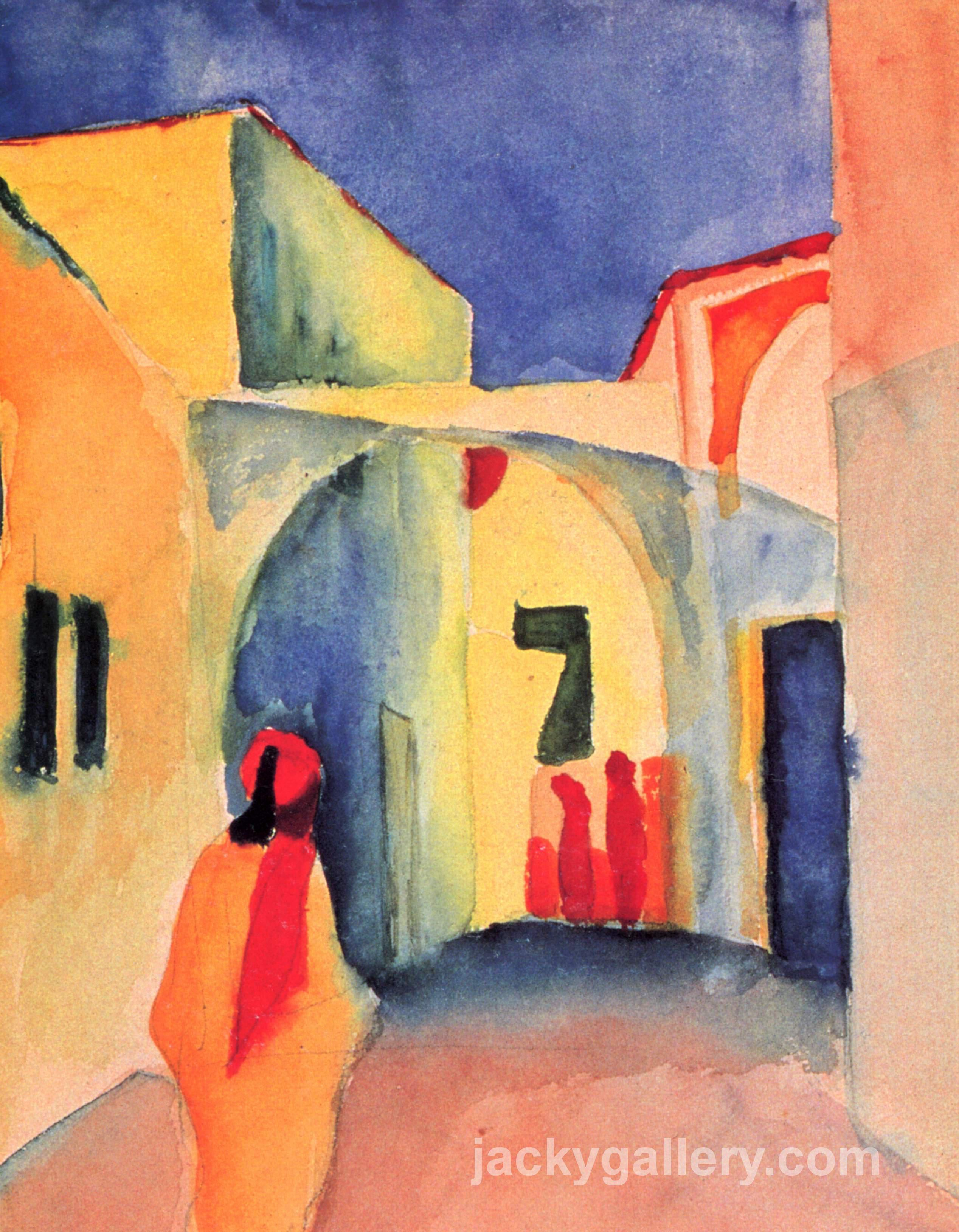 A Glance Down an Alley, August Macke painting