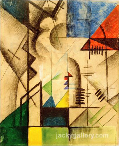 Abstract Shapes, August Macke painting