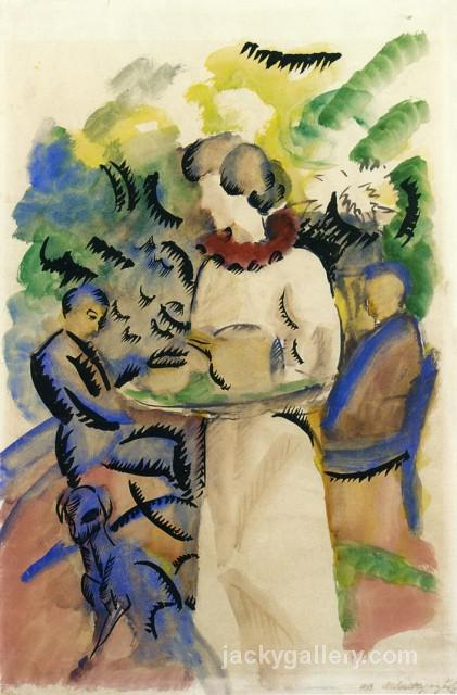 Afternoon in the Garden, August Macke painting