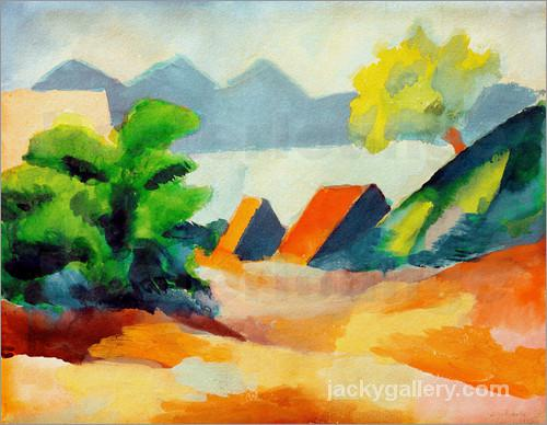 Am Thuner See I, August Macke painting