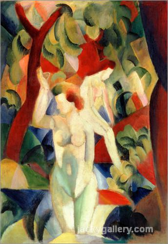 Badende Frauen, August Macke painting
