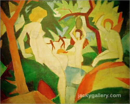 Bathing Women, August Macke painting