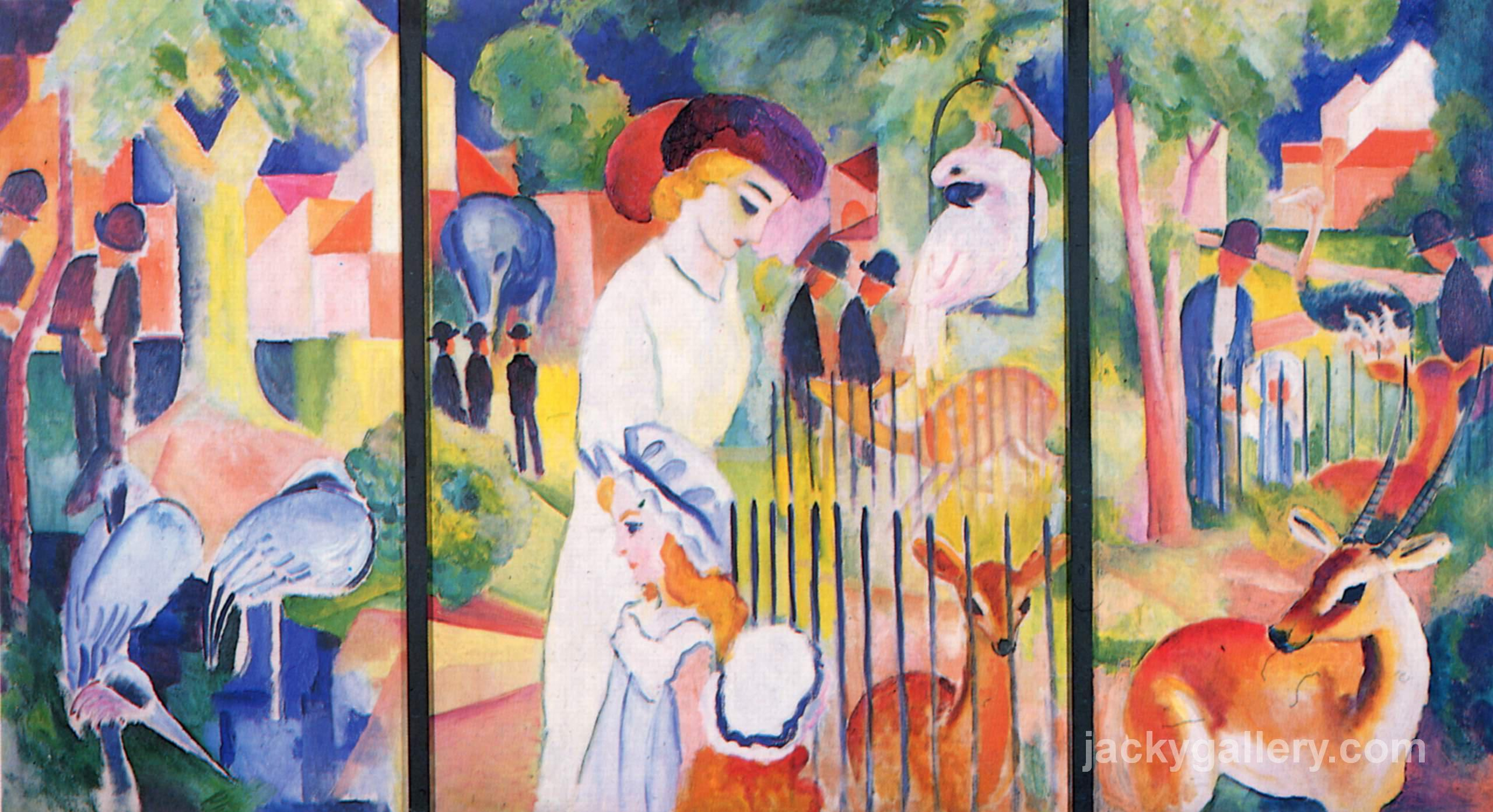 Big Zoo Triptych, August Macke painting