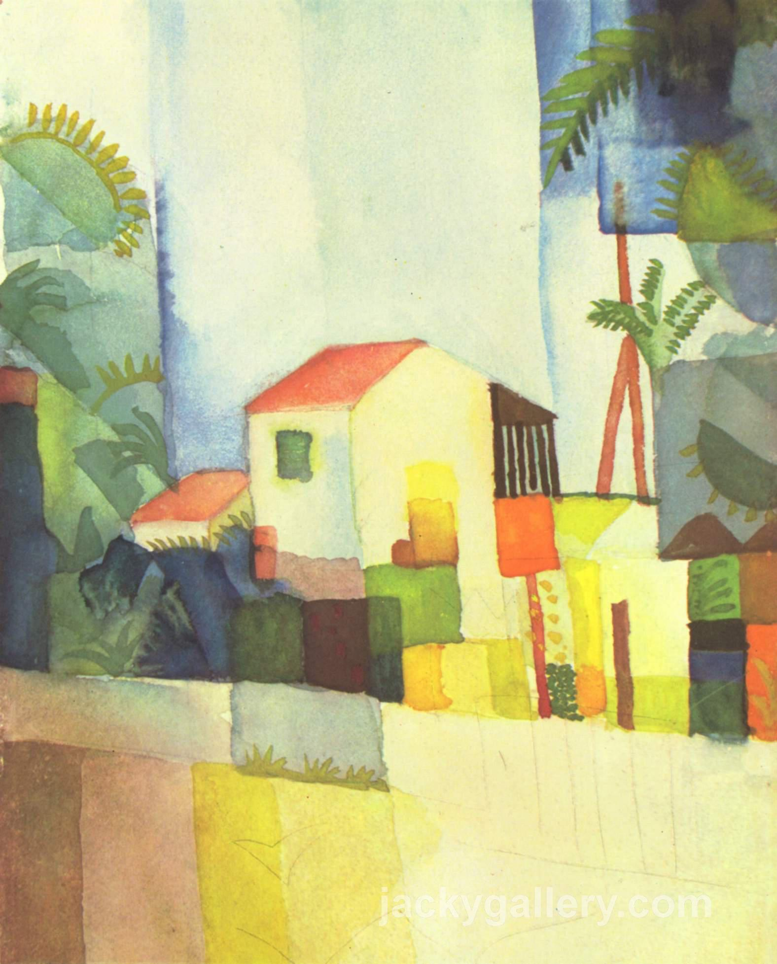 Bright House, August Macke painting