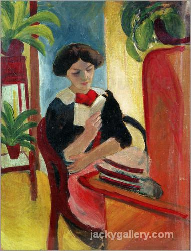 Elizabeth Reading, August Macke painting