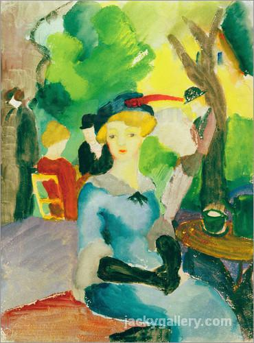 Figures in the park, August Macke painting