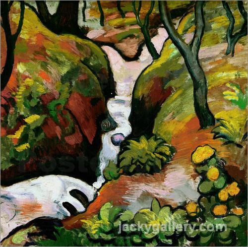 Forest Brook, August Macke painting