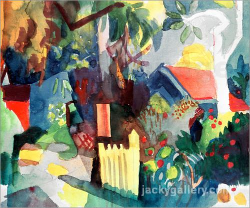 Landscape with Bright Tree, August Macke painting