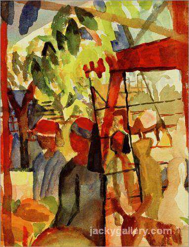 Marktleben, August Macke painting