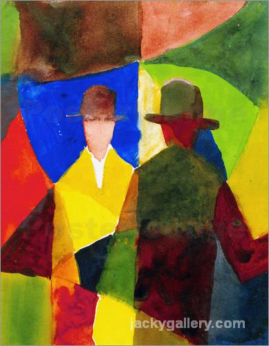 Mirror Image in Shop Window, August Macke painting