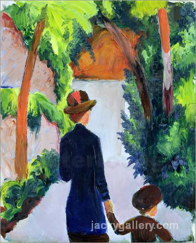 Mother and Child in the Park, August Macke painting
