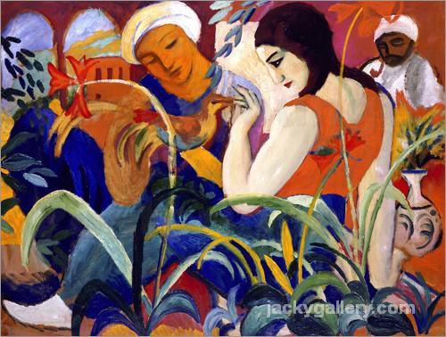 Oriental women, August Macke painting