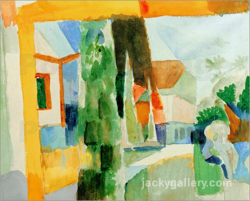 Our Garden by the Lake 4, August Macke painting