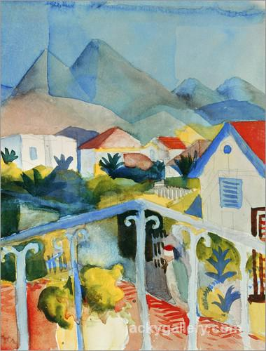 Saint Germain near Tunis, August Macke painting