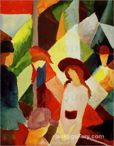 Schaufenster, August Macke painting