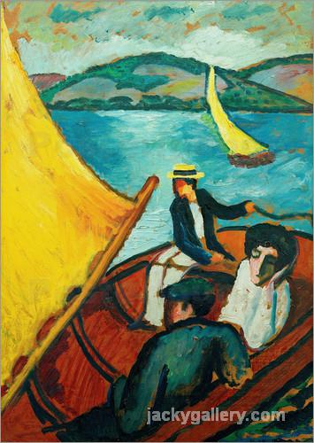 Segelboot, Tegernsee, August Macke painting