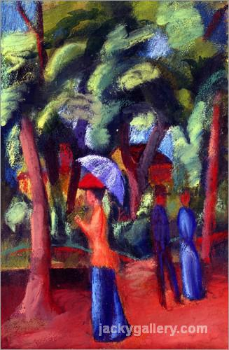 Spaziergang im Park., August Macke painting