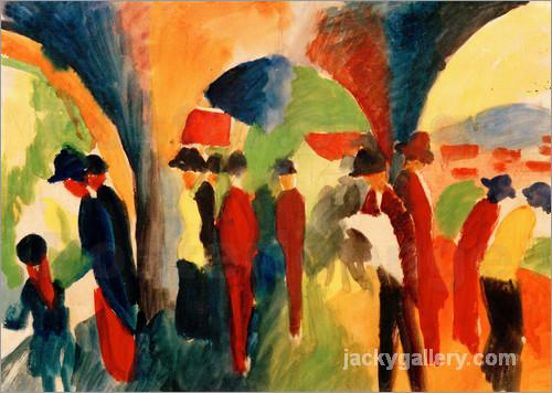 Spazierganger, August Macke painting