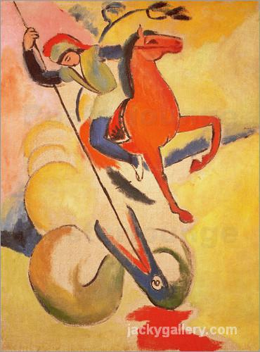 St. George, August Macke painting
