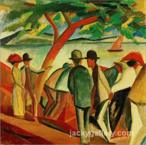 Stroller on the lake, August Macke painting