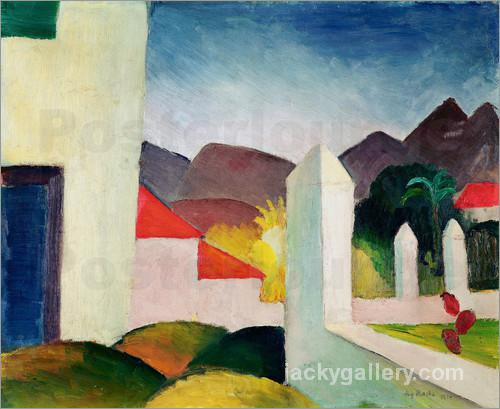 Tunisian Landscape, August Macke painting