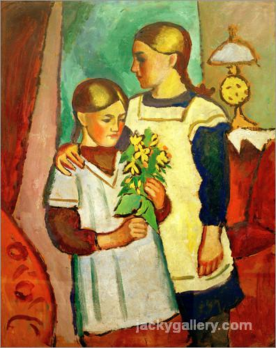 Two Sisters, August Macke painting