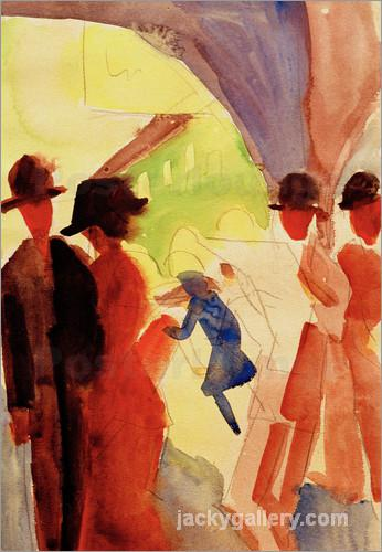 Unter den Lauben in Thun I, August Macke painting