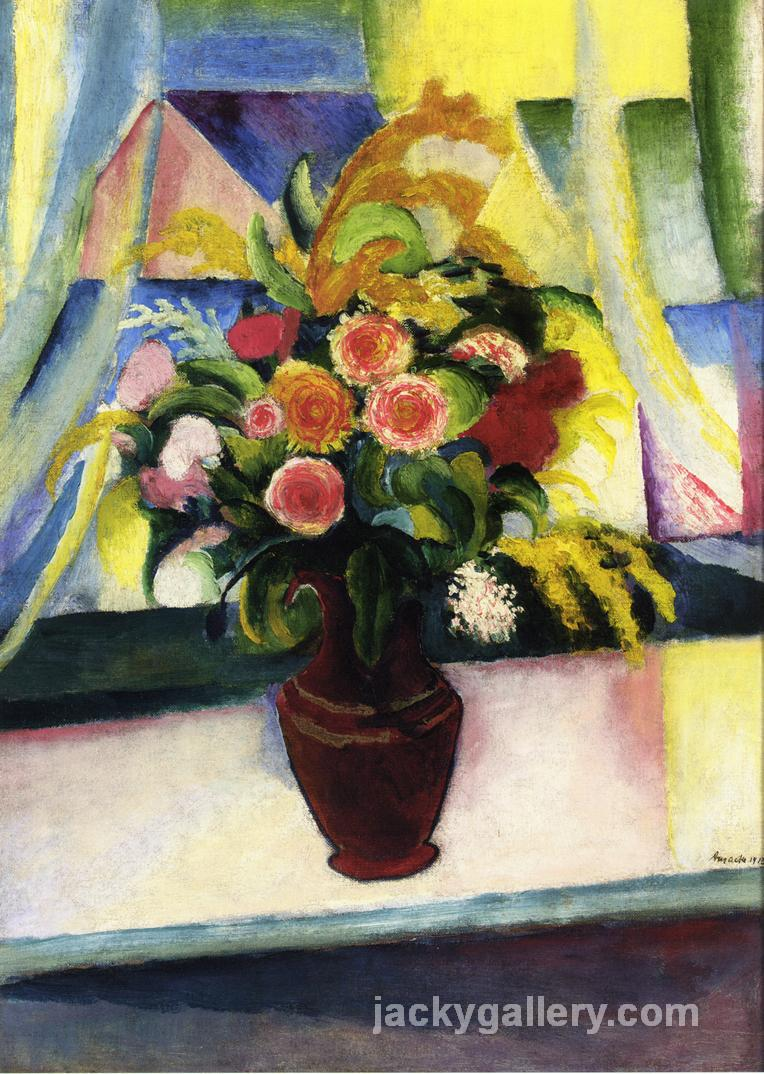 Untitled, August Macke painting