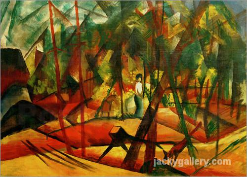 Waldspaziergang, August Macke painting