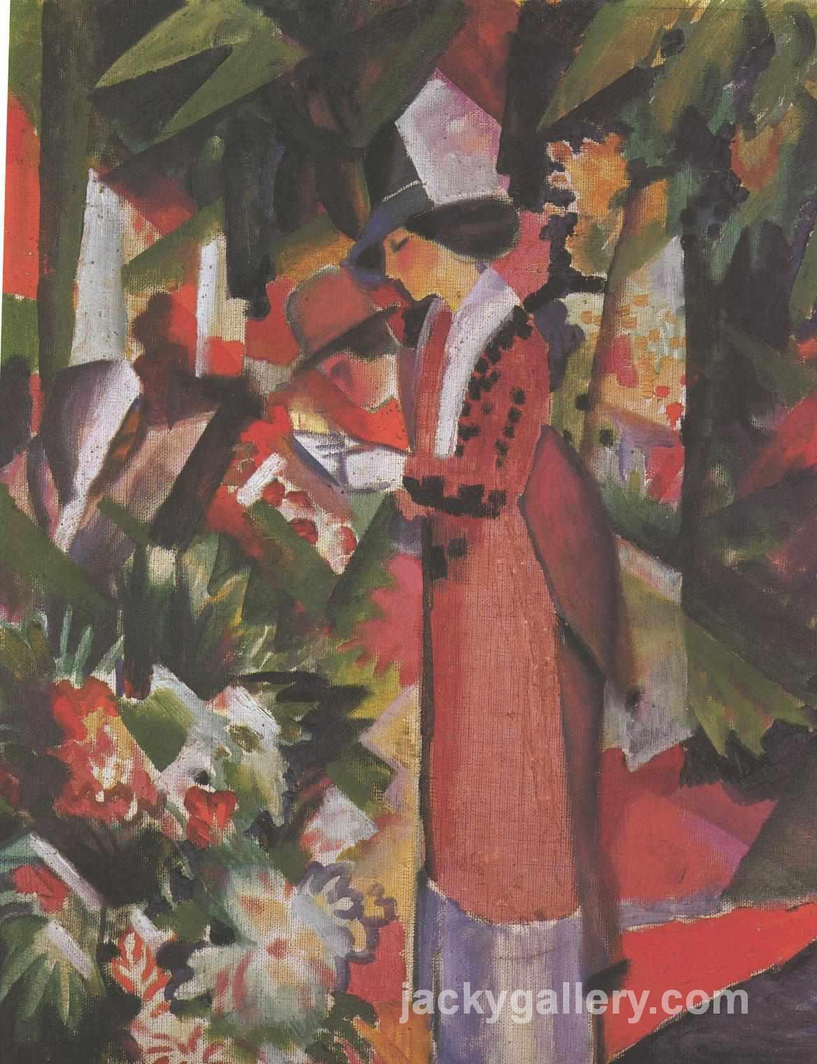 Walk in flowers, August Macke painting