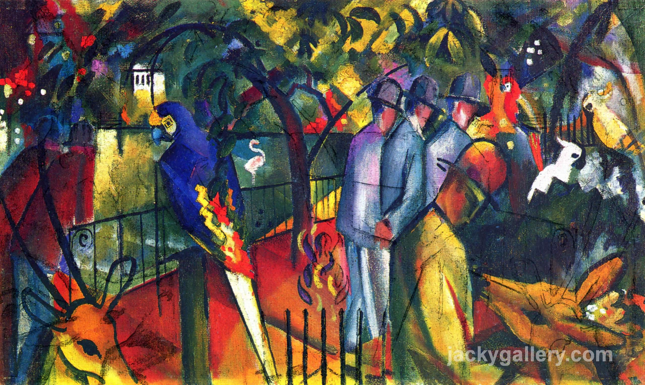 Zoological Garden I, August Macke painting