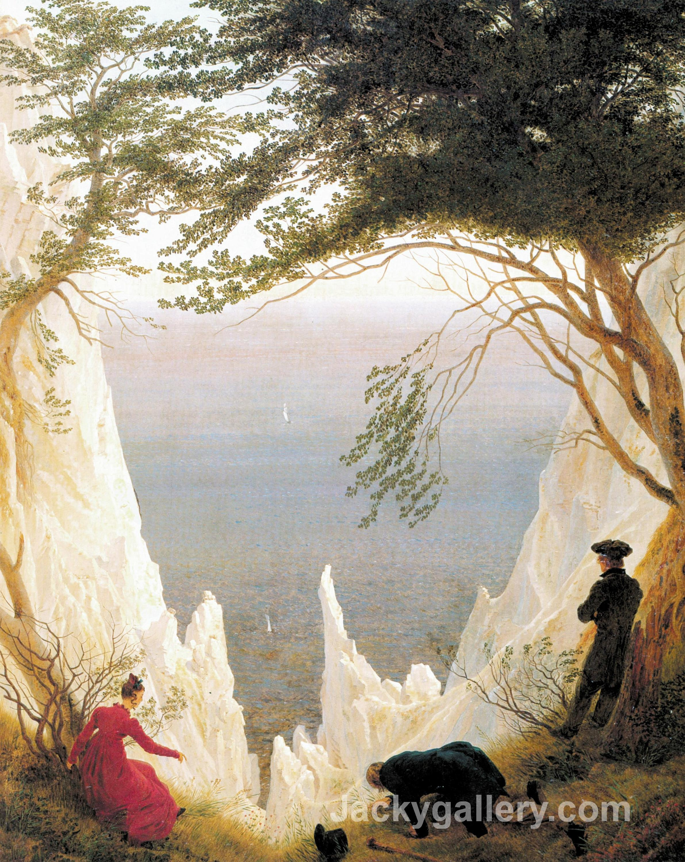 Chalk Cliffs on Rugen by Caspar David Friedrich paintings reproduction