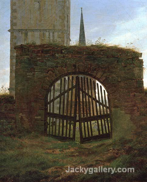 Churchyard Gate by Caspar David Friedrich paintings reproduction