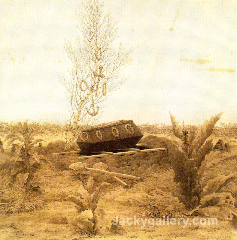 Coffin and Grave by Caspar David Friedrich paintings reproduction