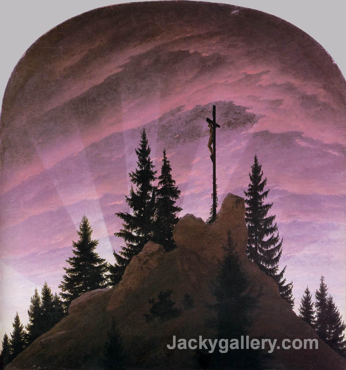 Cross in the Mountains (Tetschen Altar) by Caspar David Friedrich paintings reproduction