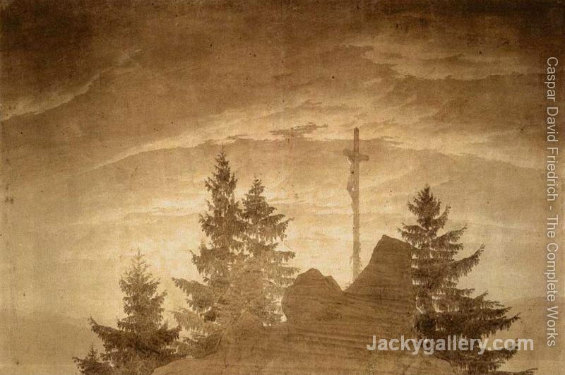Cross in the Mountains -06 by Caspar David Friedrich paintings reproduction