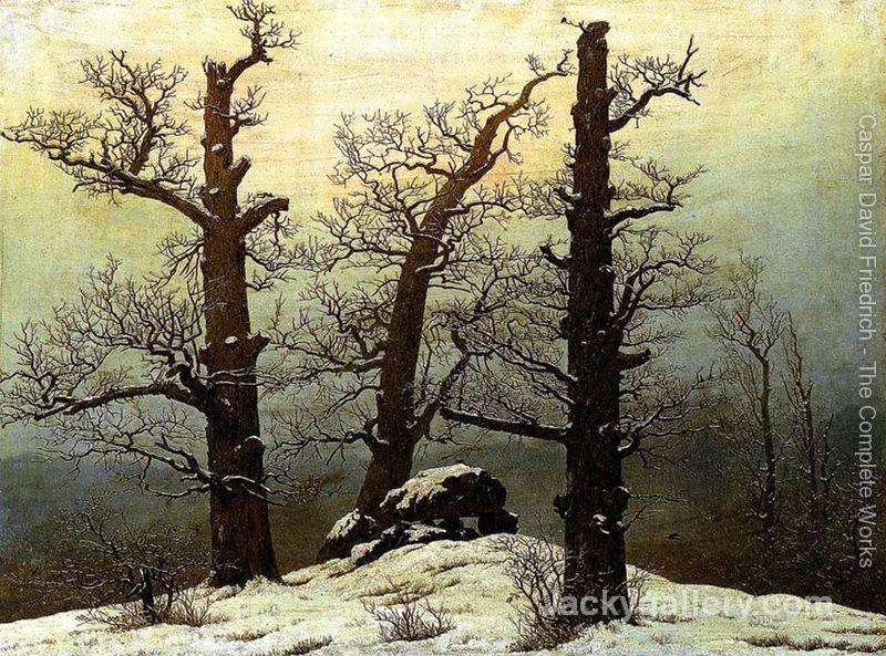 Dolmen In The Snow by Caspar David Friedrich paintings reproduction