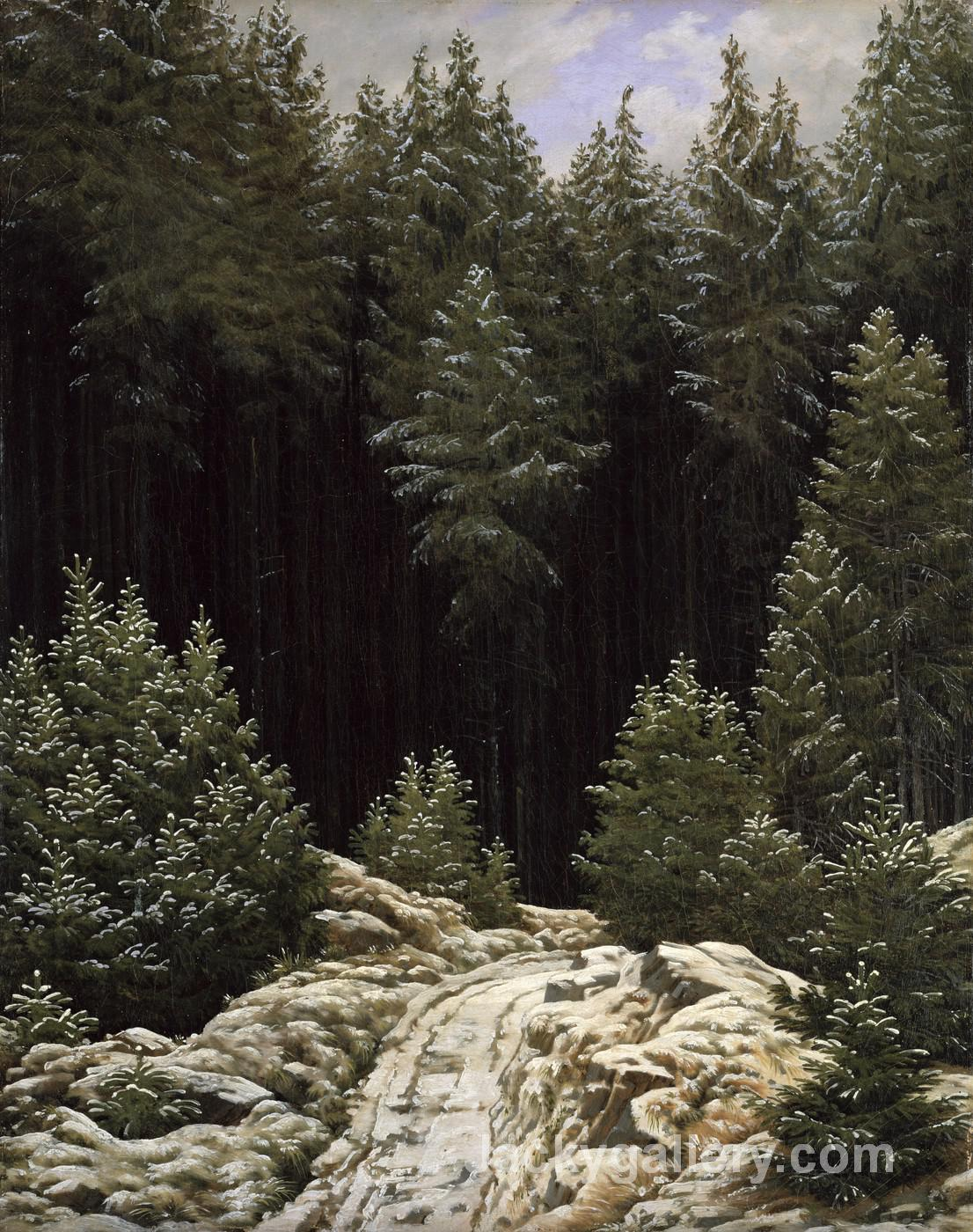Early snow by Caspar David Friedrich paintings reproduction