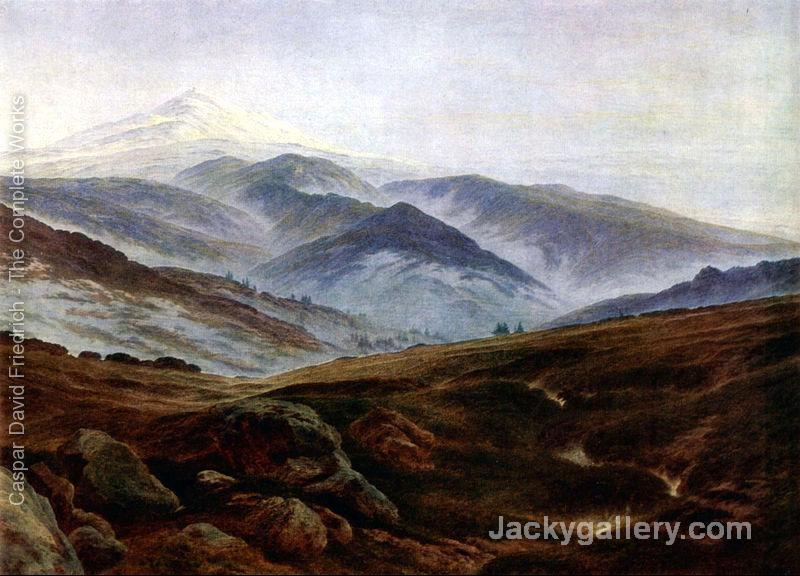Giant mountains by Caspar David Friedrich paintings reproduction