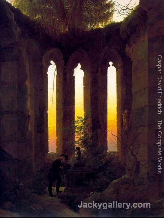 Huttens Tomb by Caspar David Friedrich paintings reproduction