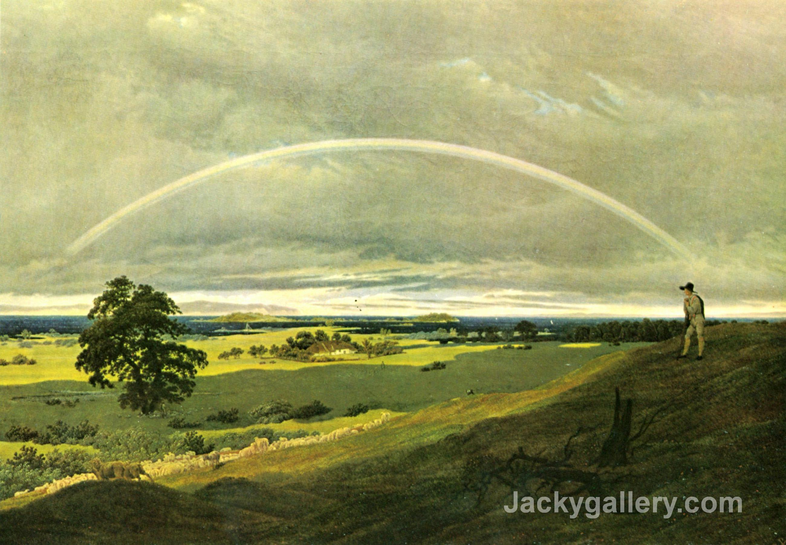 landscape with rainbow by caspar david friedrich paintings
