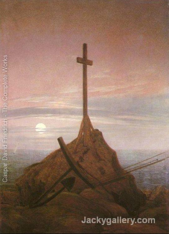 The Cross on the Baltic by Caspar David Friedrich paintings reproduction