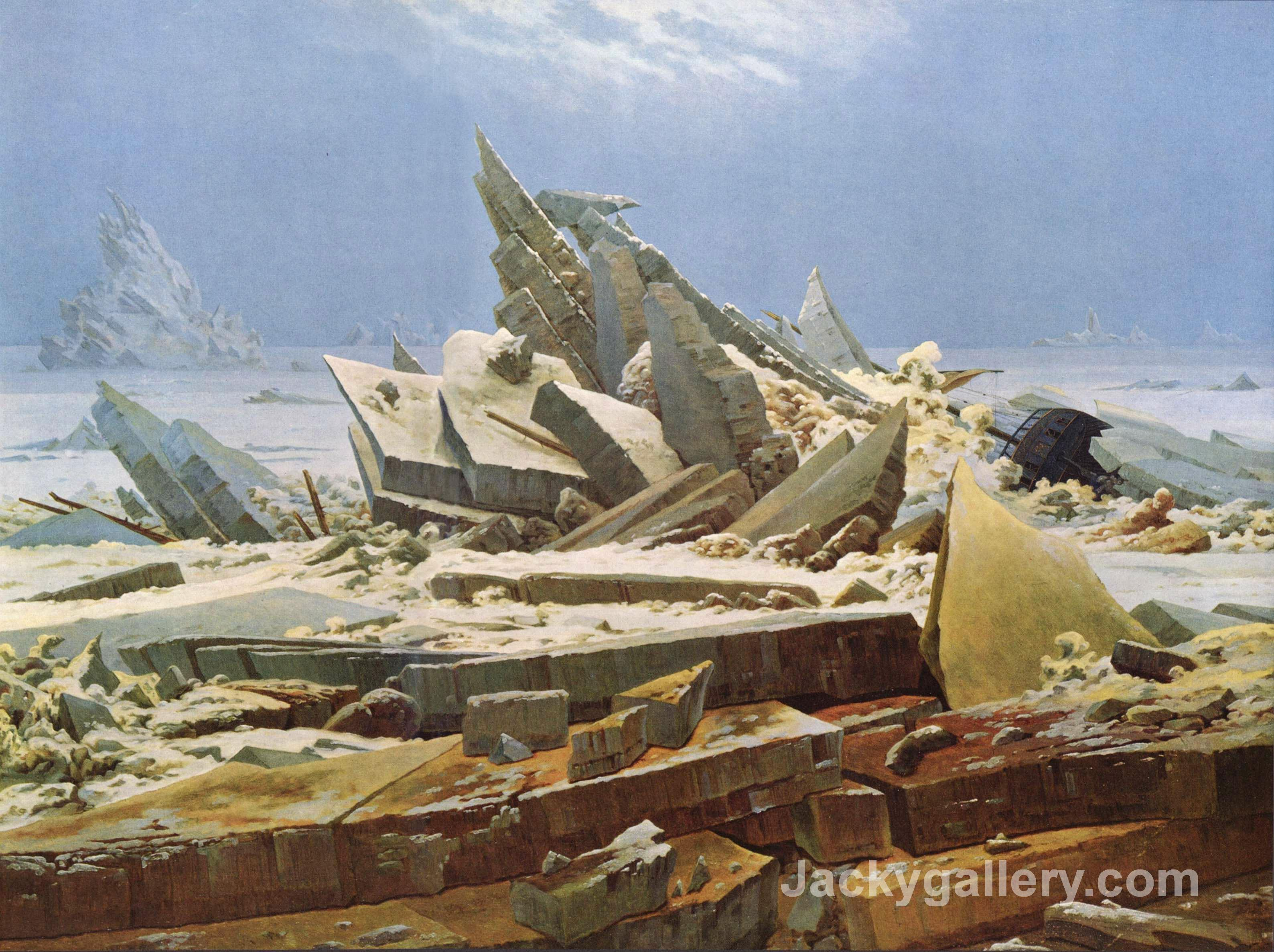 The Sea of Ice by Caspar David Friedrich paintings reproduction