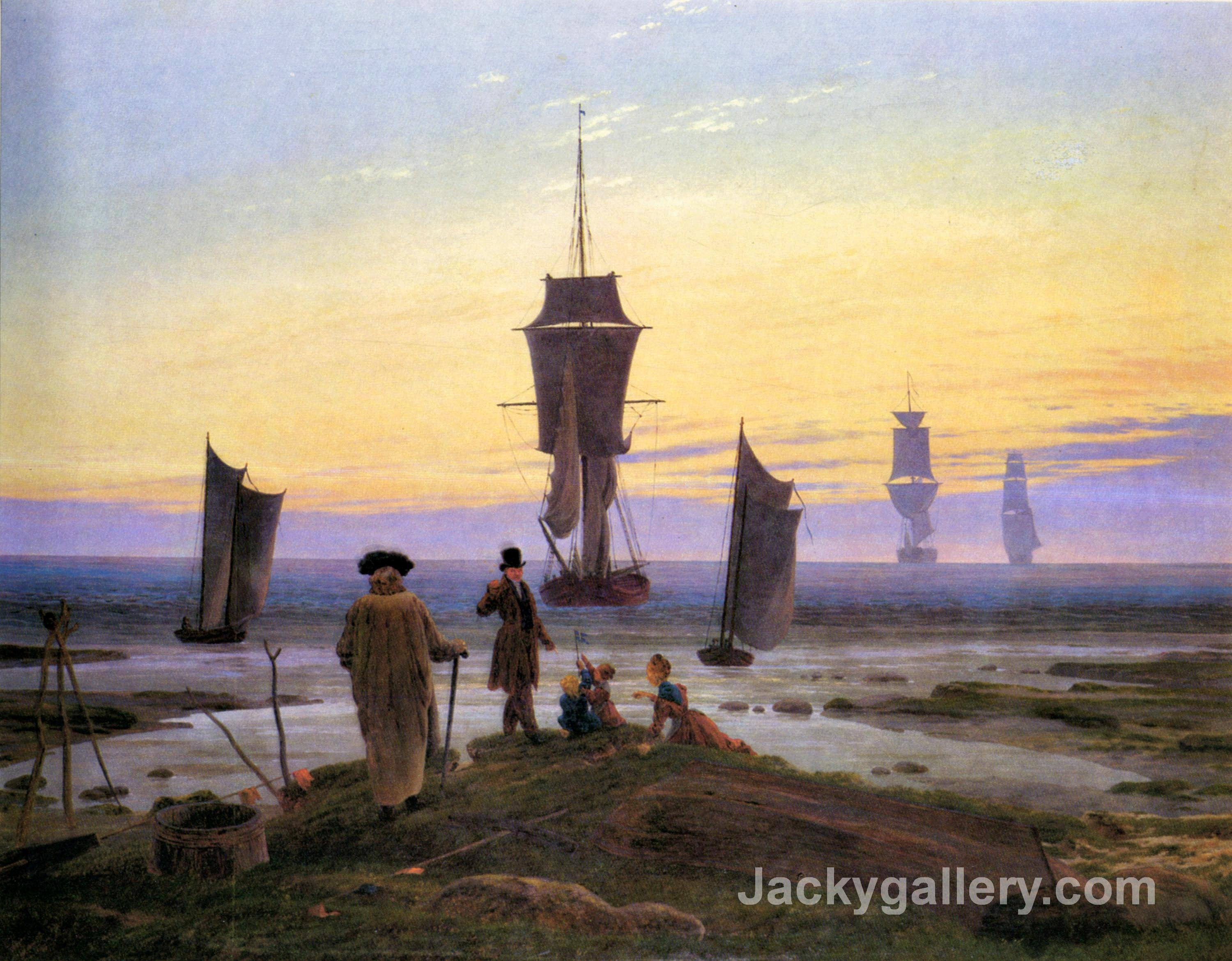 The stages of life by Caspar David Friedrich paintings reproduction