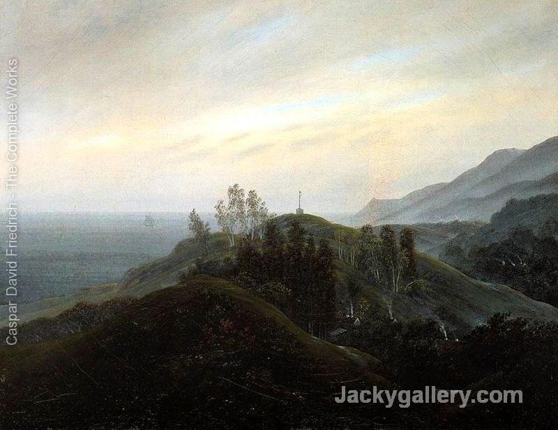 View of the Baltic -25 by Caspar David Friedrich paintings reproduction
