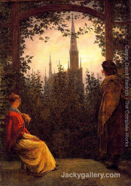 Watching the church by Caspar David Friedrich paintings reproduction